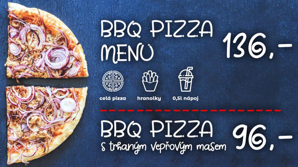 BBQ pizza Brno